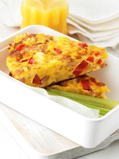 Ideal for picnics or lunch boxes Pasta Frittata - Farm Pride