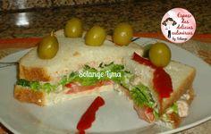 Sanduíche com patê de atum e legumes - Espaço das delícias culinárias