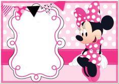 Free Printable Minnie Mouse Pinky Birthday Invitation Template
