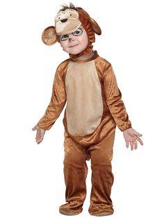 Apen kostuum voor peuters. Super schattig apen verkleedpakje voor peuters. Het hoofdstuk is los te dragen.