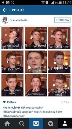 The many faces of Thomas Sangster. HAHAHAHAHAHA SORRY FOR THE LANGUAGE BUT I JUST GOT TO PIN THIS!