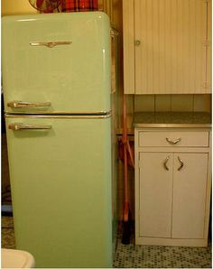 Northstar 1951 mint green fridge. I have an obsession with old fridges.