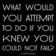 what would you attempt to do if you could not fail?