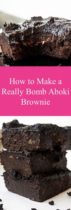 Nigerian style brownies that are healthy. YUM! Best recipe ever. Better than cake!