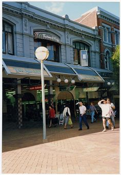 Shades Arcade 1993 Christchurch New Zealand, Engineering Firms, City Library, Central City, Will Turner, Local History, South Island, Old And New, Arcade