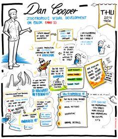 Dan Cooper - Zootropolis Visual Development on Color (part Product Development, Visual Development, Animated Cartoons, Sketchbooks, Dan, Study, Animation, Illustration, Color