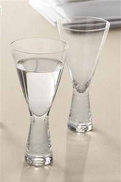 Set of 2 Chunky Wine Glasses