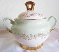 Figgjo Flint Grønn Marie Sukkerskål Stavanger, Vintage China, Norway, Jars, Cool Stuff, Kunst, Pots, Jar, Vases