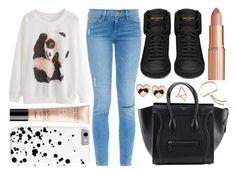 """Street Style"" by enola123 ❤ liked on Polyvore featuring mode, Charlotte Tilbury, Frame Denim, Yves Saint Laurent, Guerlain, Tarina Tarantino, Geoffrey's en Monica Vinader"