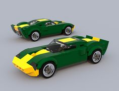 https://flic.kr/p/QLMohw | GT40 Green n yellow chrome.