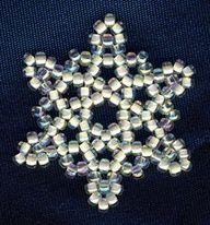 Beaded Snowflake Free Bead Pattern