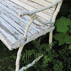 Vintage bench in my garden