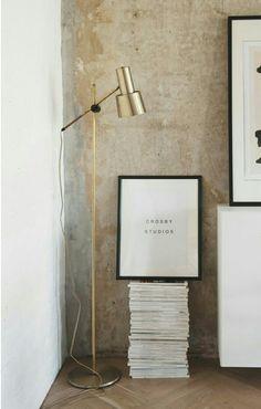Beautiful brass floorlamp