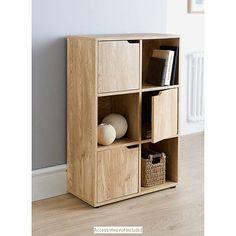 Turin 6 Cubes Shelves For Storage Oak Finish Books Toys Storage Unit