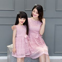 Family Matching Outfits Mother and Daughter Matching Dresses Family Clothing Mom and Daughter Matching Clothes Family Dress DR71