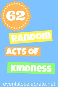 Random Acts of Kindness - eventstocelebrate.net
