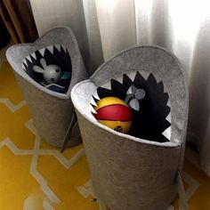 Shark Felt Toy Storage Bag - Perfect for stuffed animals and other light-weight storage Kids Room Accessories, Toy Basket, Hamper Basket, Toy Storage Baskets, Nursery Fabric, Nursery Storage, Laundry Hamper, Plush Animals, Stuffed Animals