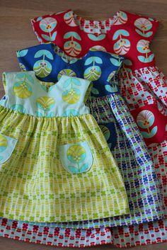 Color Me Retro Geranium Dresses by frostpatterns