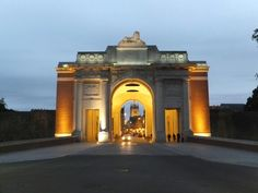 Menin Gate in Ieper Belgium. At 8 pm every night is the Last Post Ceremony.