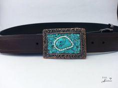 Turquoise Belt Buckle Womens Healing gemstone by EyesofAnastasia