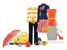 perfect combos! bold nautical colors and stripes...ahoy! permission to come aboard granted! :)