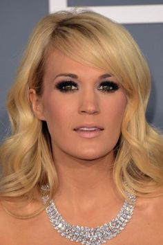 Carrie Underwood's hair & makeup look from the red carpet of the Grammys. What do you think?