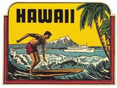 Vintage Surfing Decals from the 1960s