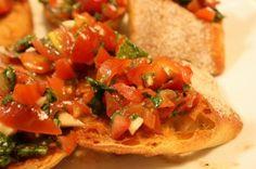 Fresh Mozzarella Bruschetta...great idea!