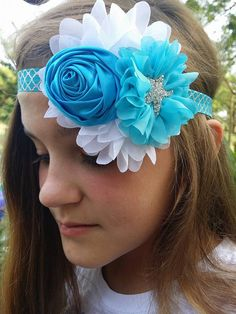 Hey, I found this really awesome Etsy listing at https://www.etsy.com/listing/246959994/turquoise-headbandflower-girl