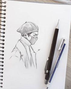 mit bleistift – Keep up with the times. Kpop Drawings, Art Drawings Sketches Simple, Pencil Art Drawings, Bts Instagram, Fanart Bts, Arte Sketchbook, Anime Sketch, Cute Art, Art Inspo