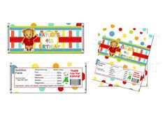 Daniel Tiger Candy bar Wrapper Printable. $3.99, via Etsy.