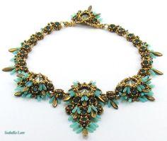 DRAGON'S EYE Perlen Halskette Februar 2013 Challenge von bead4me