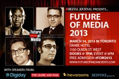 Future of Media event to discuss & debate branded content with experts from Digiday, Globe & Mail and /newsrooms