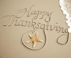 Pic of the Day...Happy Thanksgiving USA! ---------------- #beach #thanksgiving #sand #water #waves #travel #beaches