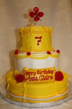 ... birthday on Pinterest  Beauty and the beast, Belle cake and Belle