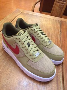 huge selection of d6df2 0a6ce NIKE AIR FORCE 1 JERSEY GOLD SPORT RED WHITE 488298 701  148