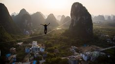 """the ghost inside"" world record slackline in China long - TRAILER The Ghost Inside, Limestone Rock, 100m, Winter Springs, The Province, World Records, Documentary, Rio, Rocks"