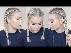 How To: Double Dutch Braid    Kim K Inspired - YouTube
