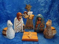 Fair trade nativity set.