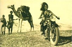 """""""#RideForFreedom"""" picture. The photo was taken in 1939 in Abyssinia, now Ethiopia, by an unknown Italian soldier. It later became the property of the British army following his capture and was used as their Xmas card in 1940."""