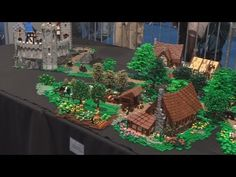 Bird Flight, Lego Medieval Castle Layout, Lowlug Legoworld 2013 - YouTube