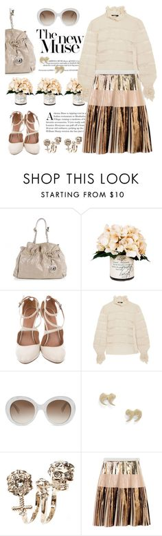 """""""Foil it!"""" by pensivepeacock ❤ liked on Polyvore featuring Christian Dior, Creative Displays, Alaïa, Isabel Marant, Gucci, Alexander McQueen and Proenza Schouler"""