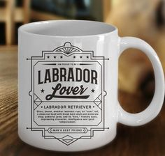 This #coffeemug makes a great #gift for #labradorlovers on their birthday, Christmas or any occasion. This 11 oz. mug is made from the highest grade ceramic, and the designs are printed and sublimated in the United States. It is 100% dishwasher and microwave safe; the print will never fade. #giftideas #ceramicmugs #giftmug #LabradorRetrieverLover #gifts #LabradorRetriever #mugs #birthdaygift #DogLoverMug #doglovers #Christmasgiftguide #holidaygiftideas