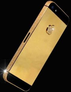 Liverpool-based designer Stuart Hughes has created the world's most expensive smartphone. This iPhone 5 was custom made for a price tag of $15 million. It was hand chiseled out of 135 grams of 24 carat solid gold with 600 flawless white diamonds set into the gold. the screen has been made from solid sapphire glass and the home button is made out of a 26 ct. black diamond that happens to be one of the rarest black diamonds on earth #luxurydotcom via Trendhunter