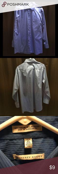 Geoffrey Beene Button Down Dress Shirt Blue Button Down Dress Shirt Size Large (16 1/2 - 32-33). Wrinkle Free Geoffrey Beene Shirts Dress Shirts