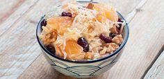 Sałatka z selerem i mandarynkami Oatmeal, Breakfast, Food, The Oatmeal, Morning Coffee, Rolled Oats, Essen, Meals, Yemek