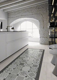 Home Decorating DIY Projects : Vives presents Maison Bohème, porcelain and white body Azulejos y Gres -Read More – Modern Floor Tiles, Tile Floor, Kitchen Tiles, Kitchen Flooring, Ceramic Flooring, Concrete Tiles, Kitchen Drawers, Wood Flooring, Küchen Design