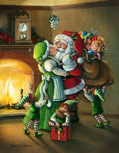 Christmas With Santa & Mrs. Claus under the Mistletoe with the Elves