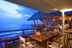 Don't you want to dine at this poolside Sala overlooking the limitless skyline and ocean? Come visit us at Villa Sang Fah in Phuket, http://www.thephuketvillas.com/villa/villa-sang-fah-phuket/ #Phuket   #villarental   #Thailand