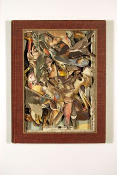 """Birds of America, 2006, Altered Book, 12"""" x 9-1/4"""" x 1-1/2"""" - Image Courtesy of the Artist"""